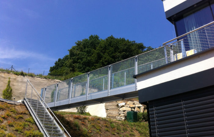 Gittergeländer Stahltreppe