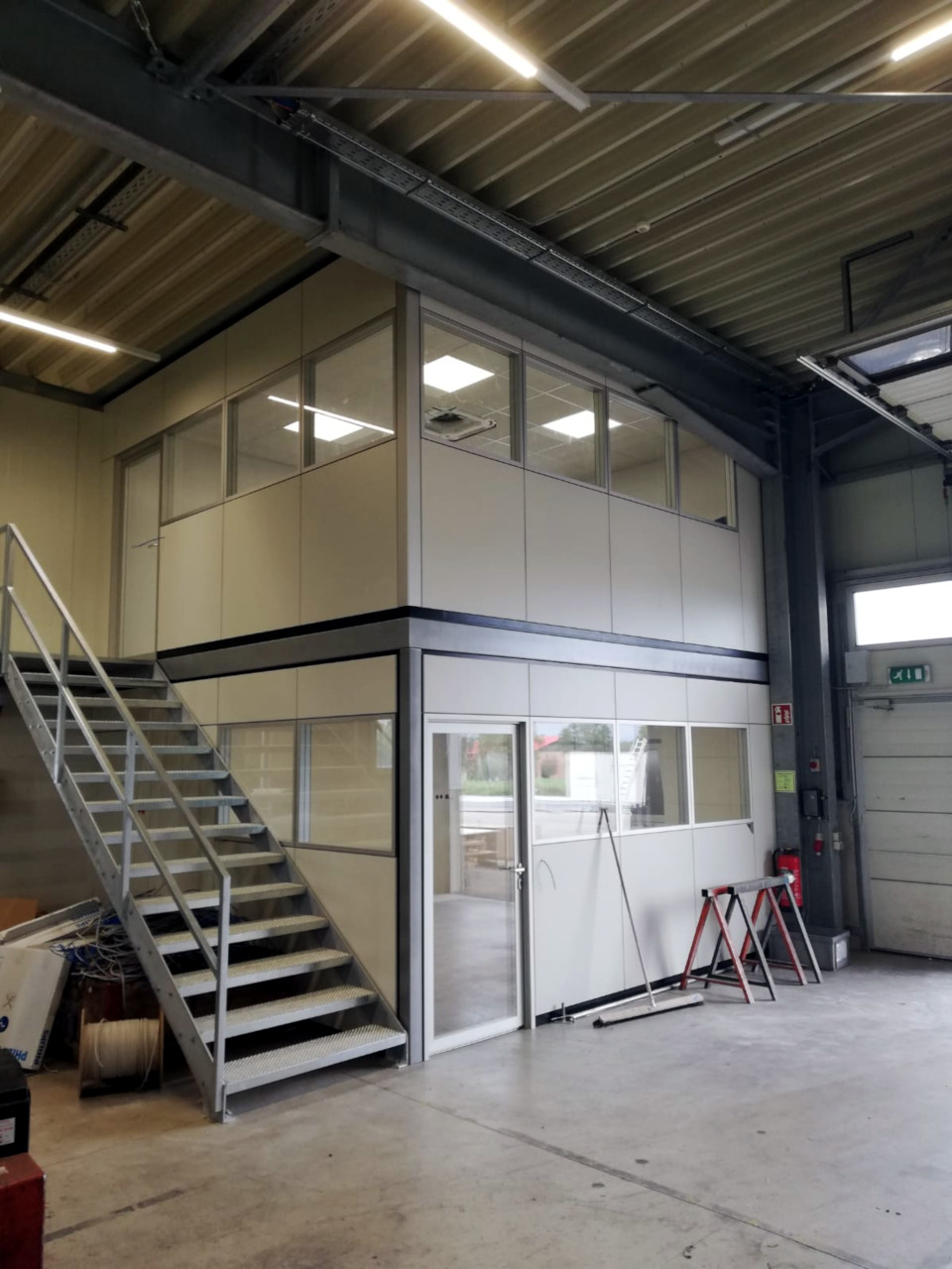Meisterkabine Hallenbüro Stahlbau
