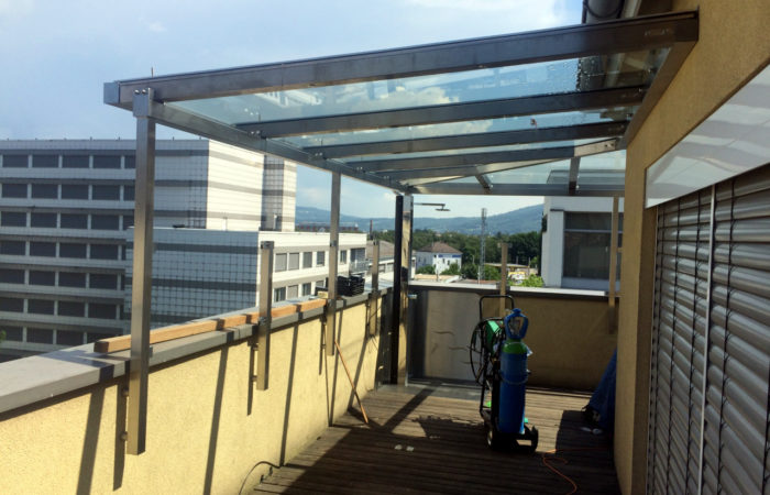 Niro Edelstahl Terrassenüberdachung Penthouse